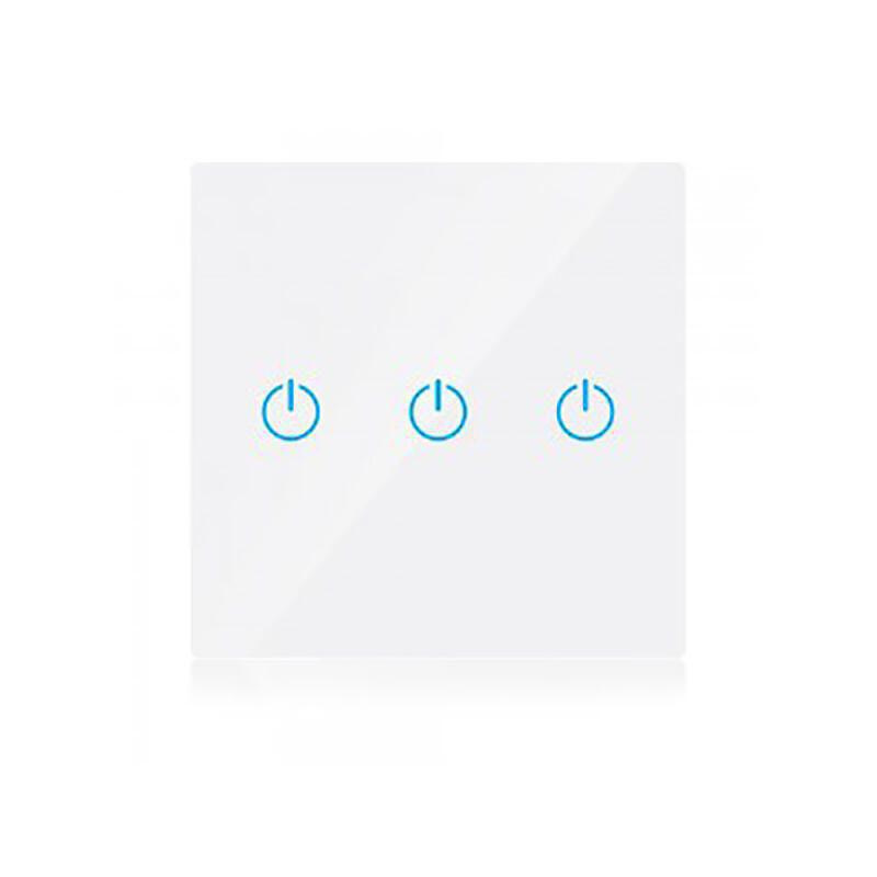 V-tac Wifi Χωνευτός Διακόπτης Αφης τριπλός (Λευκός) συμβατός με Amazon Alexa & Google Home SKU:8419